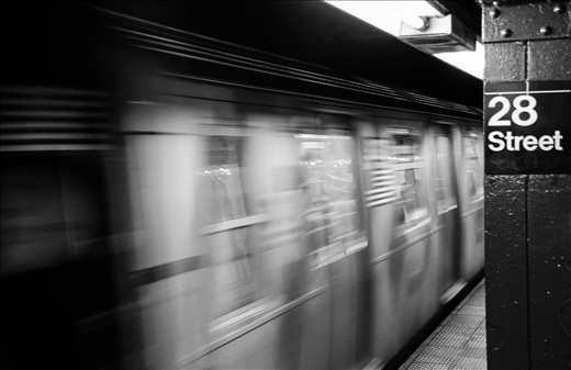 On my trip to NYC I used a lot public transportation to get around. I decided to use motion blur on the train and a stagnant 28th street pillar because, 1. That was the nearest station to me. 2. To convey the fact that the subway of NYC are so fast paced and so organized that, being my 1st time to the city, I was able to pick up and learn how to get around so easily. 3. With all the hustle and bustle there was always time to catch your breath and find yourself.