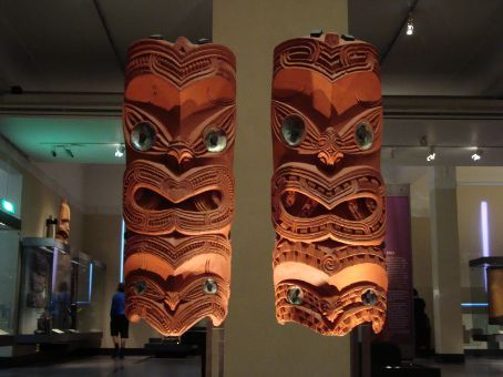 This was taken in the Auckland Museum, which was one of the first places I went to in NZ.  I know they're Maori but I can't remember what they're for...