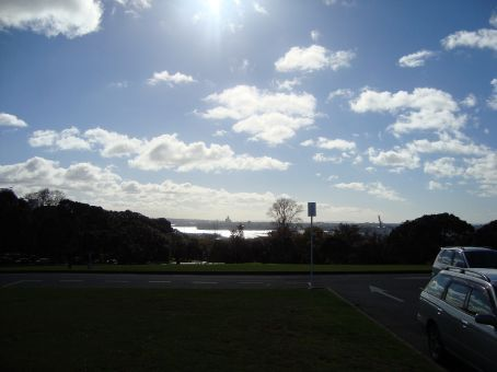 This is the view from the Museum car park looking toward Auckland.