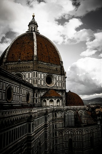 This photo has been taken in Florence Italy from the tower, there could be a classic shot from the top of the tower, but I wanted to shot from here. Like this way, I believe there is a better depth for the photo with the help of clouds.
