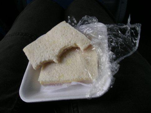 lecker Schinken/Käse Sandwich