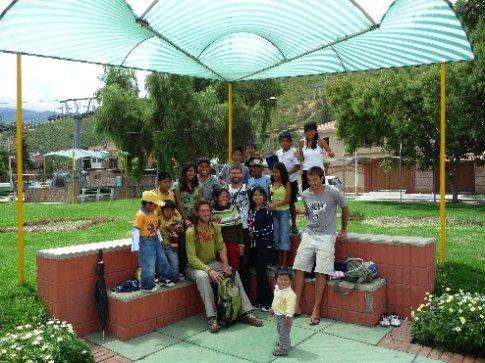 wenn der Gringo kommt wollen alle ein Foto / Cochabamba