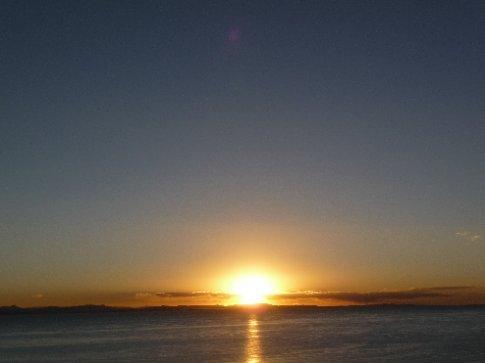 Sonnenuntergang / Lago Titikaka