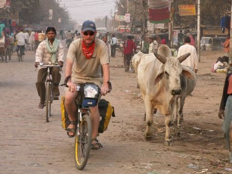 In the streets of Varanasi