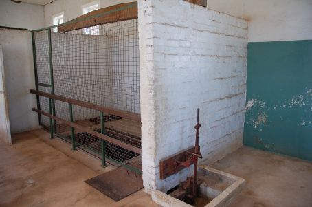 Gallows at Fannie bay gaol, used for the last time in 1952