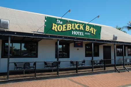 The famous Roebuck Bay hotel, est. 1890