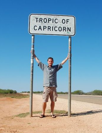 First time across the tropic of Capricorn
