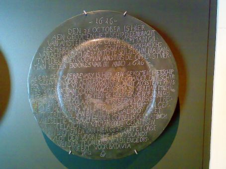 Vlamingh Plate at the Discovery Centre in Denham