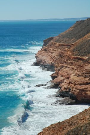 The cliffs south of Kalbarri