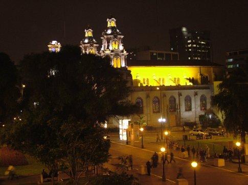 Miraflores at night