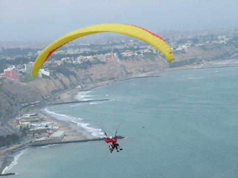 Dave paragliding