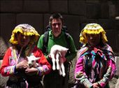 Cusco.  Dave holding a llama: by steph_dave, Views[148]