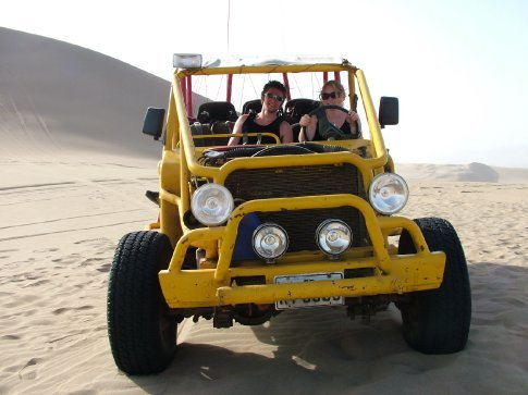 The dune buggy.  Lucky for everyone an expert was really driving.