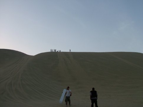 A series of photos showing Dave´s victorious sandboarding.  He´s at the top on the right.  I love the way he lands.