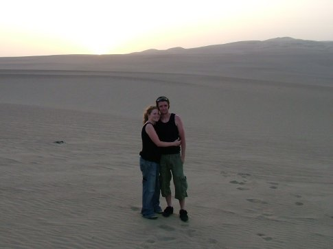 Sunset on the dunes.  Ahh.  How romantic.