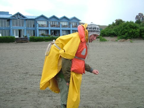 Dave's beautiful whale-watching outfit.