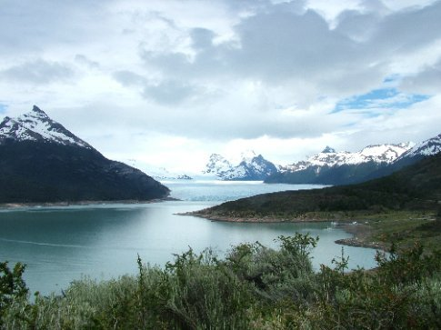 Our first glimpse of the Perito Moreno glacier.  The biggest in South America.  Very cool.  More photos of the glacier to follow.