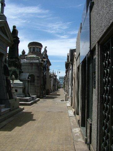 A street of sarcophagi
