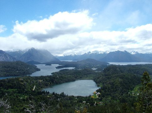 Cerro de Campanario, Bariloche.  Apparently one of the top 10 views in the world.  It is very pretty.