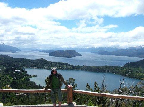 Cerro de Campanario with Dave in front of it.