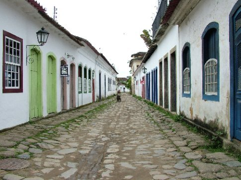 Cobbled streets in Parati