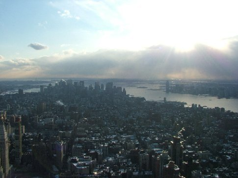 A couple from the Empire State Building