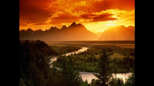 Sunrise Yellowstone park