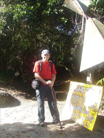 At the top of Gunung Berembam - 1812m