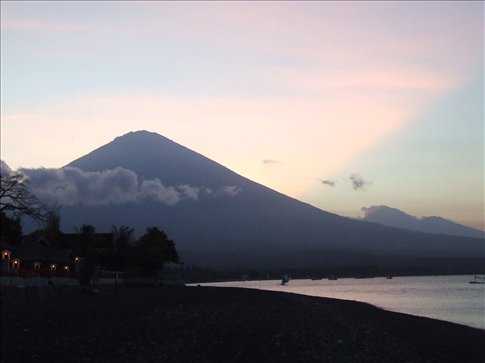 Gunung Agung from the beach in Amed.