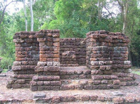 The ruins of Lembah Bujang hindu temple in Kedah