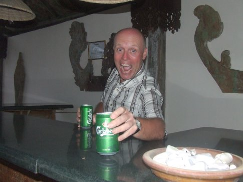 Lucky that Steve's bar was open!