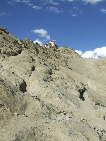 Tsemo gompa on Namgyal Peak, glad we didn't have to walk up  on our first day.