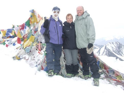 With our guide at the summit.