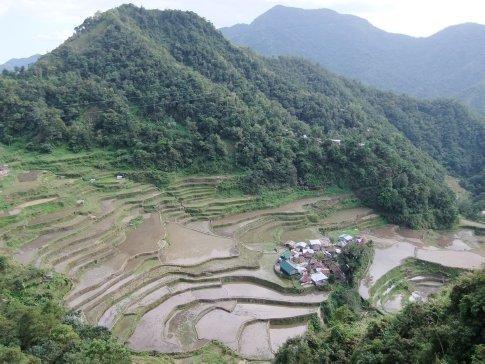 More rice terraces at Bangaan.