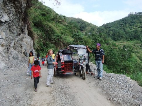 We stopped off at the Bangaan view point on the way back to Banaue but Christmas cheer was calling, we were terraced out!