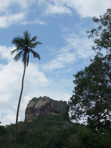 The famous Sigiriya Rock, a must see in Sri Lanka.