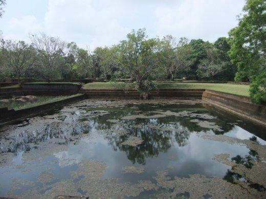 A tank in the grounds of Sigiriya.