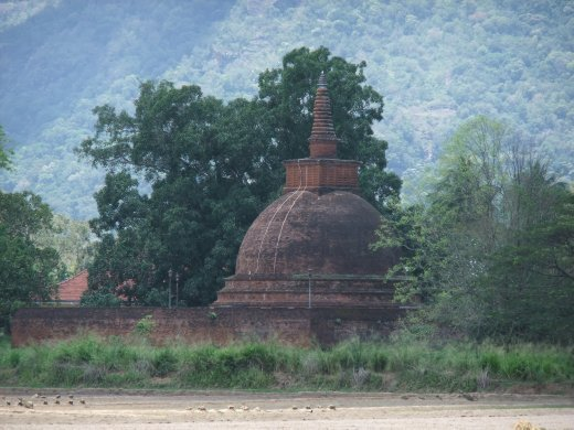 Ancient stupa near Maligawila.
