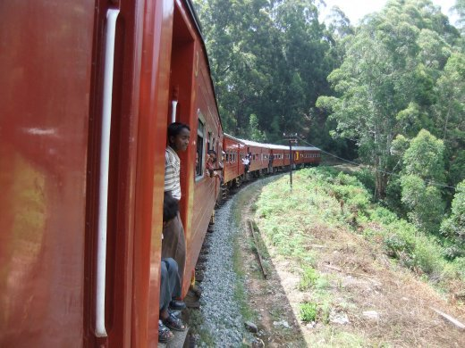 Riding the rails to Haputale.
