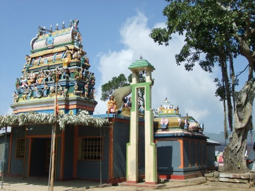 A Hindu temple in the tea plantation, most of the workers are Tamils.