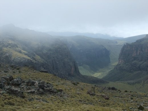 The Chogoria route follows an amazing gorge and was the most scienic part of our trek.