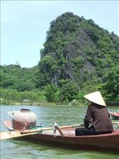 Rowing up the river to the Perfume Pagoda.: by steve_and_emma, Views[230]