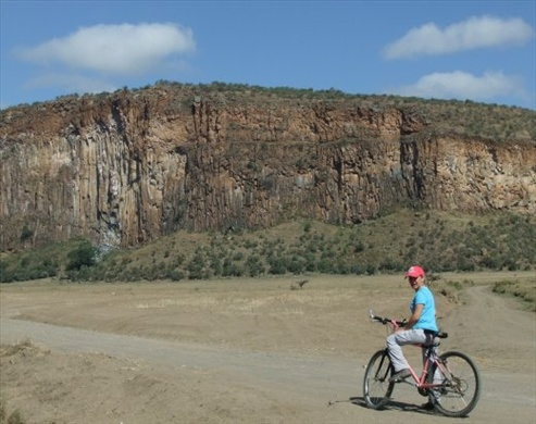 Cycling in Hell's Gate National Park.