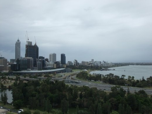 Perth on a cold, wet and windy day! Who says Australia is hot!
