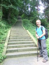 Emma on the trek up Emei Shan.: by steve_and_emma, Views[247]