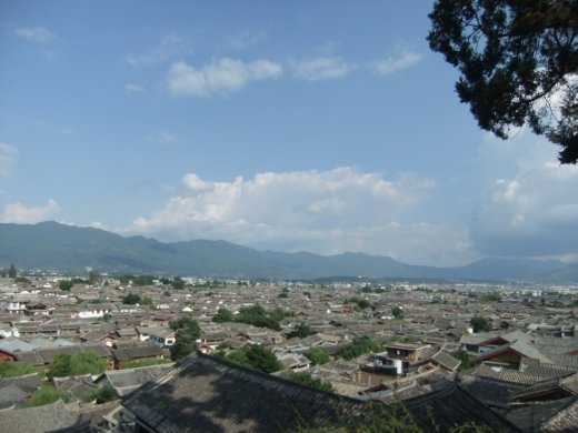 A view of Lijiang old town.