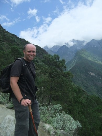 Setting out on the Tiger Leaping Gorge trek.