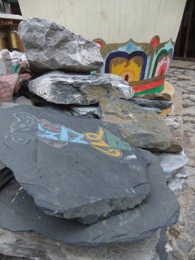 Prayer stones in the new old Shagnri-la.