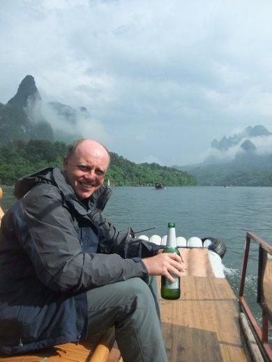 Enjoying the trip back down the Li River to Xinping.