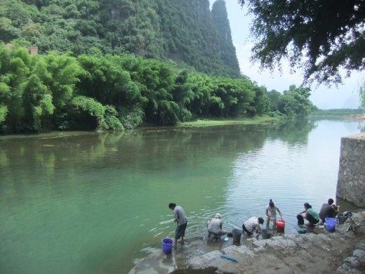 Washing day in Xinping.